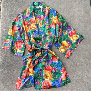 Victoria's Secret Vintage Floral Satin Robe